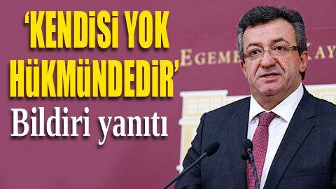 CHP'den hükümet sözcüsüne jet yanıt