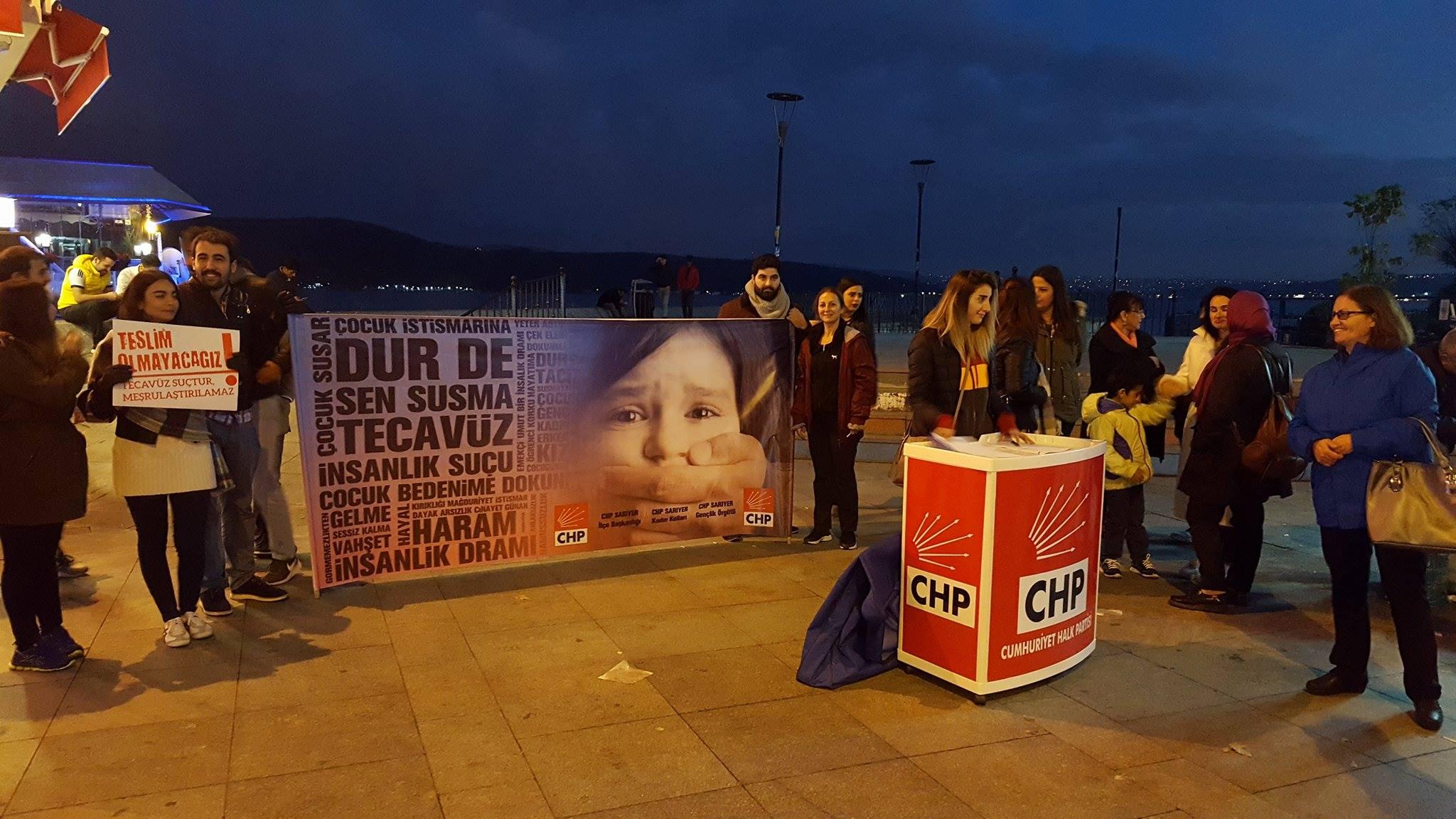 CHP Sarıyer'den imza kampanyası.