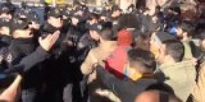 Meclis'e yürümek isteyenlere polis müdahalesi