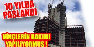 Paslanmaya bırakılan yapılar!