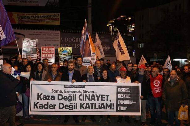 Soma, Ermenek, Şirvan kaza değil katliam!