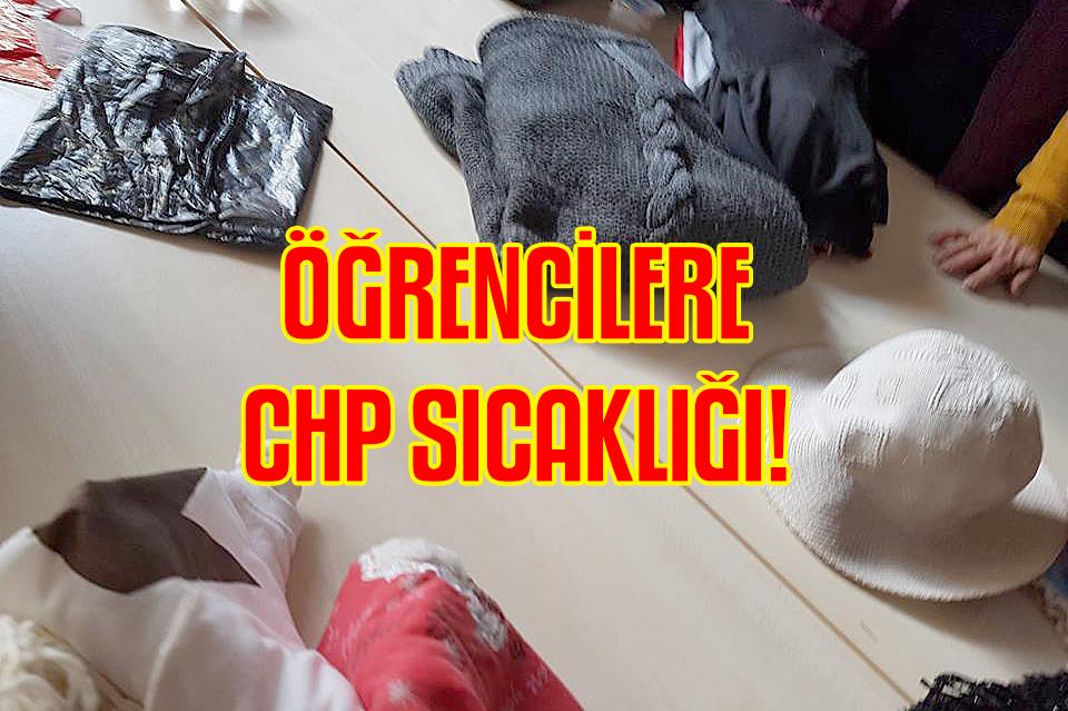 CHP'li kadınlardan İlkokul öğrencilerine destek.