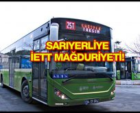 İETT'den Sarıyerliye otobüs şoku!