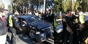Erdoğan'ın konvoyu Sarıyer'de kaza yaptı!