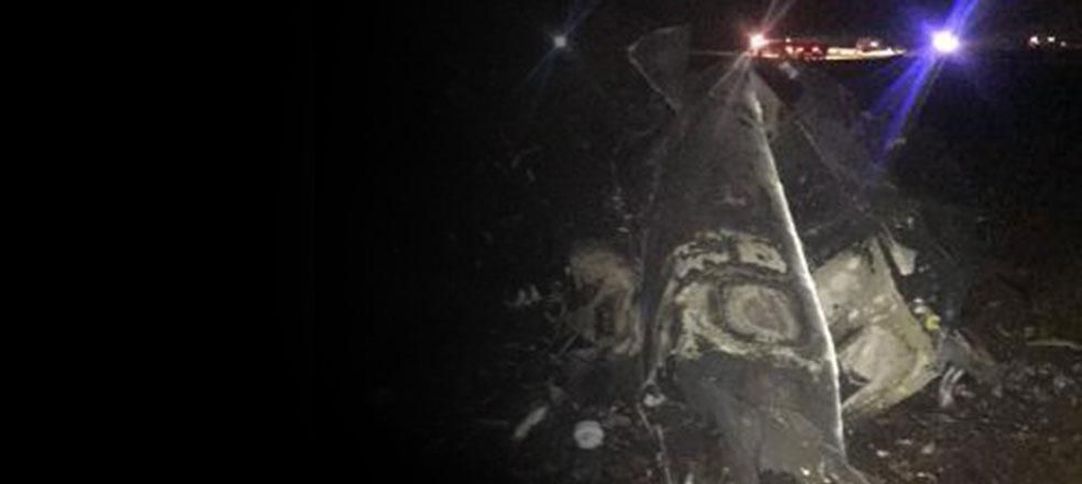 Diyarbakır'da F-16 düştü, pilot paraşütle kurtuldu