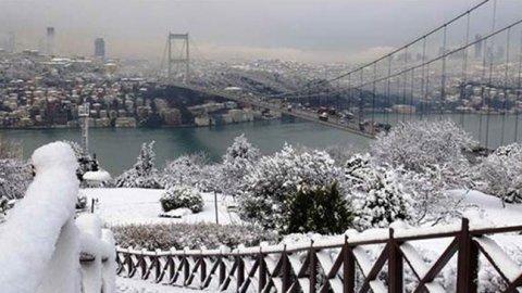 İstanbul için kar vakti
