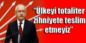 CHP lideri: Türkiye, parti devleti olamaz
