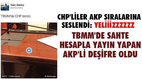 AKP'li vekil fena yakalandı: @yelizadeley