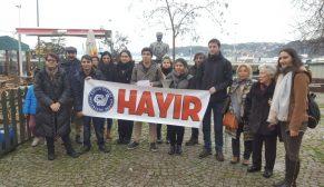 """Büyükdere'de """"HAYIR"""" açıklaması."""