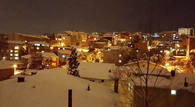 Sarıyer'den Kar Manzaraları.