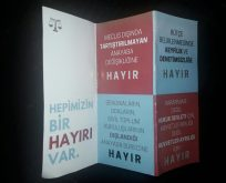 İstanbul Hukuk'ta 'HAYIR' çalışması