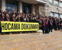 Ankara Tıp'ta 'Hocama Dokunma' eylemi