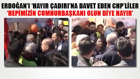 Erdoğan HAYIR çadırını ziyaret etti! – VİDEO –