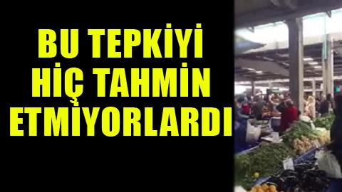 AKP'li kadınlara halk pazarında toplu tepki