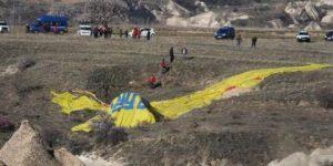 Kapadokya'da balon düştü.