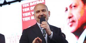 Bakan Soylu Sarıyer'de konuştu.