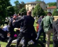 Erdoğan'ın korumaları kavgaya karıştı