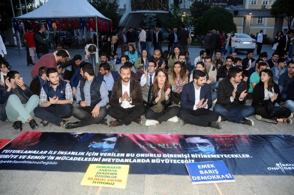 CHP'li gençlerden Gülmen ve Özakça'ya destek