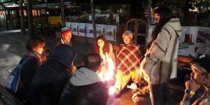 Açlık grevine destek verenlere polis müdahalesi