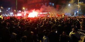 Beşiktaş'ın şampiyonluk kutlamalarından kareler