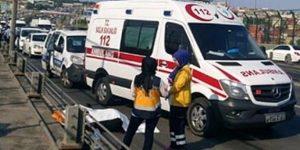 Haliç'te kaza, trafik kilitlendi