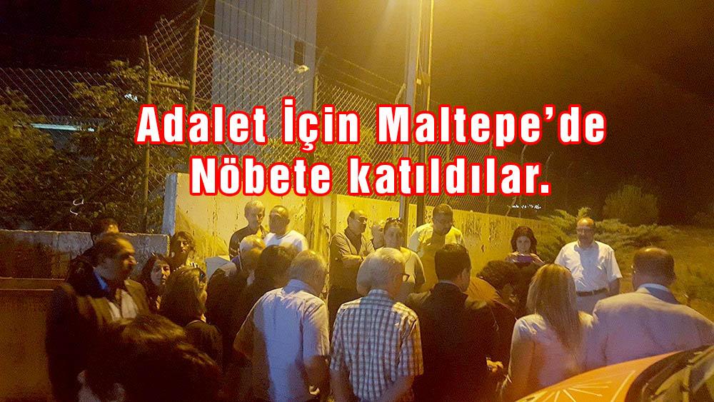 Sarıyer'li CHP'liler Maltepe'ye koştu.