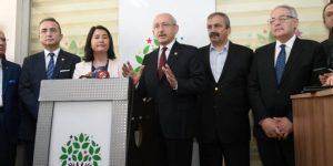 Kılıçdaroğlu'ndan HDP'ye 'HAYIR' ziyareti