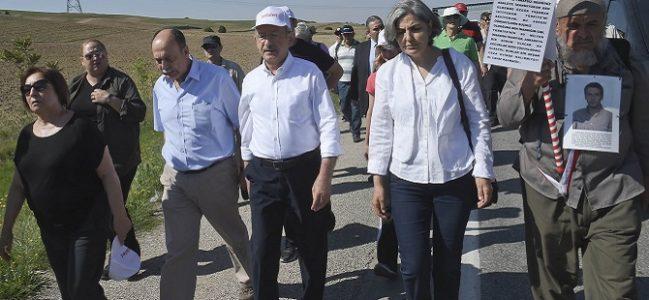 Kılıçdaroğlu 'Adalet Yürüyüşü'nün 3. gününde