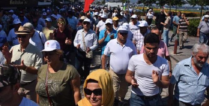 Ve CHP İzmir de 'Adalet Yürüyüşü'ne başladı