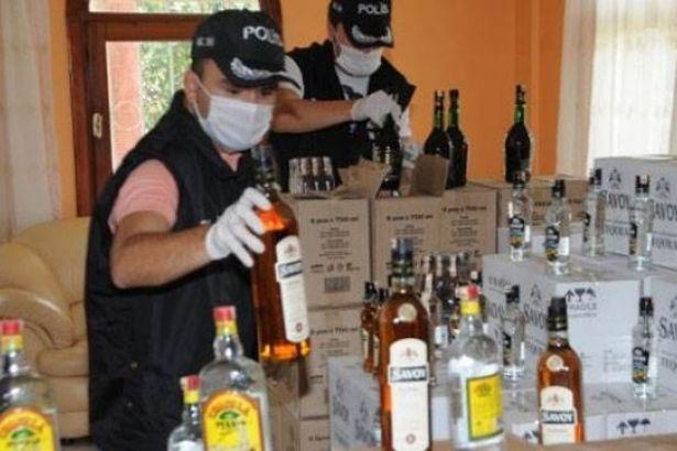 Tekirdağ'da 650 litre sahte içki bulundu