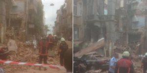 İstanbul'da metruk bina çöktü!