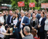 """CHP'den Maçka Parkı'nda """"Adalet Nöbeti"""""""