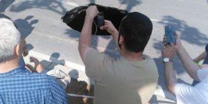Beşiktaş'ta metro çalışmaları sırasında yol çöktü