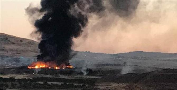 Askeri bölgede yangın: Mühimmatlar patlıyor