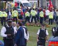 Londra'da PKK yandaşlarından engelleme!