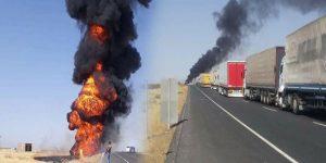 Tanker ile yolcu otobüsü çarpıştı: Ölü ve yaralılar var!
