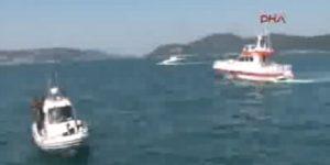 Sarıyer sahilinde bir otomobil denize uçtu
