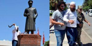 Atatürk büstü saldırganı hakkında karar