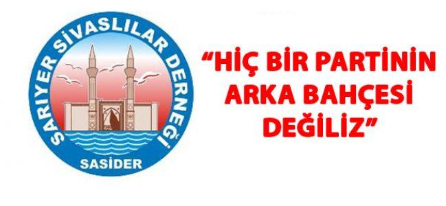 Sarıyer Sivaslılar Derneği'nden Basın açıklaması