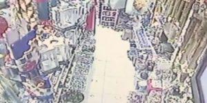 VİDEO – Bodrum'da deprem anı güvenlik kamerasında