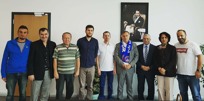 Kilyos'tan belediyeye teşekkür ziyareti.
