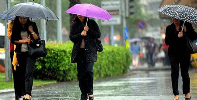 Meteoroloji'den üç kente 'yağış' uyarısı