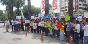 Fulya Real'de işçi eylemi. VİDEO