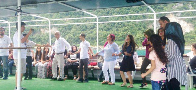 Tekne turuyla İstanbul ve boğazla tanıştılar