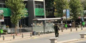 Çankaya Belediyesi önünde şüpheli çanta alarmı