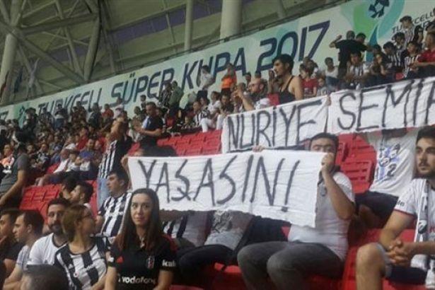Nuriye ve Semih için pankart açan taraftar tutuklandı