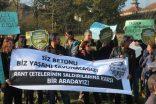 Uskumruköy'de rant çetelerine karşı eylem