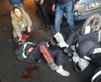 Hacıosman'da feci kaza!