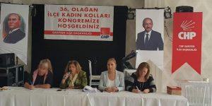 Sunay Sevinç Kadın kolu başkanı seçildi.