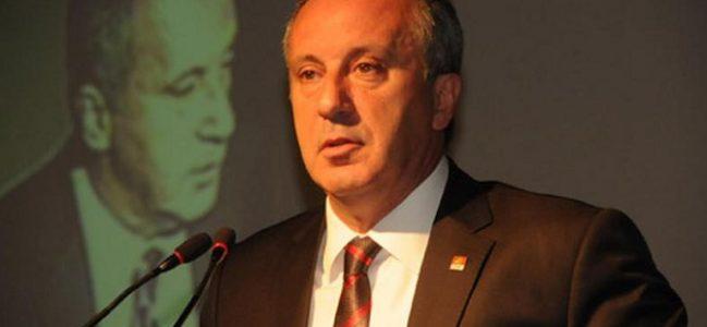 İnce: AKP, CHP'deki bu yapı kalsın istiyor